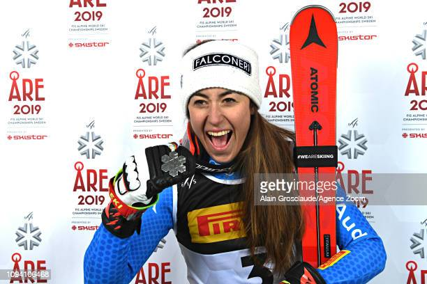 Sofia Goggia of Italy wins the silver medal during the FIS World Ski Championships Women's Super G on February 5 2019 in Are Sweden