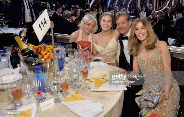 Sofia Grace Macy Georgia Grace Macy William H Macy and Felicity Huffman attend FIJI Water at the 76th Annual Golden Globe Awards on January 6 2019 at...