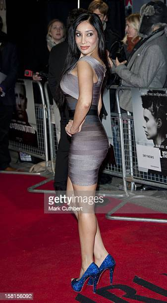 Sofia Hayat Arriving For The World Premiere Of The Girl With The Dragon Tattoo At Odeon Leicester Square London