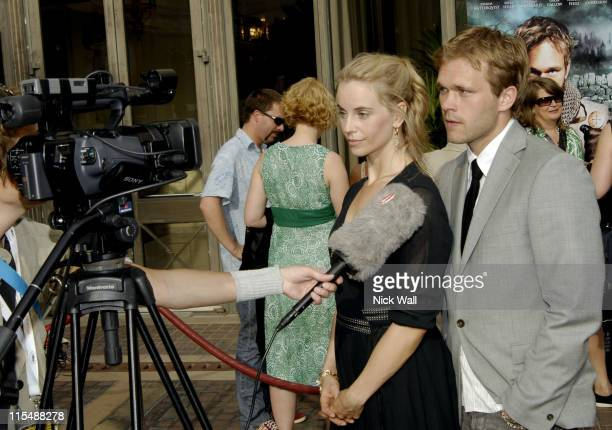 Sofia Helin and Joakim NAetterqvist during 2007 Cannes Film Festival Svensk Cocktail Party in Cannes France
