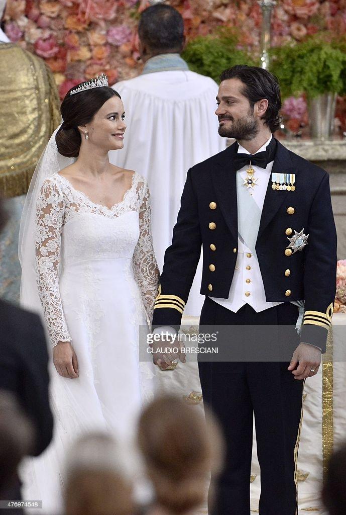 SWEDEN-ROYAL-WEDDING-CEREMONY : News Photo