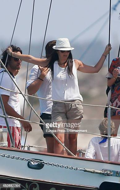 Sofia Hellqvist is seen on July 28 2014 in Ibiza Spain
