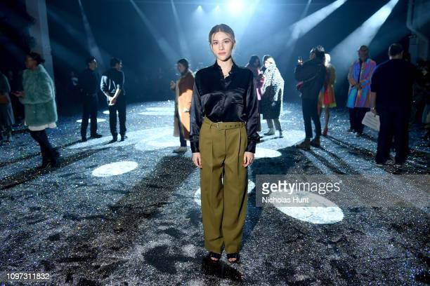 Sofia Hublitz attends the Sies Marjan FW'19 Runway Show at SIR Stage on February 10 2019 in New York City
