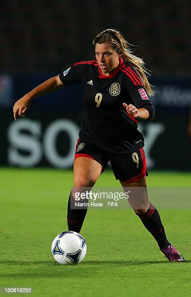Sofia Huerta of Mexico runs with the ball during the FIFA U20 Women's World Cup 2012 group A match between Mexico and New Zealand at Kobe Universiade...