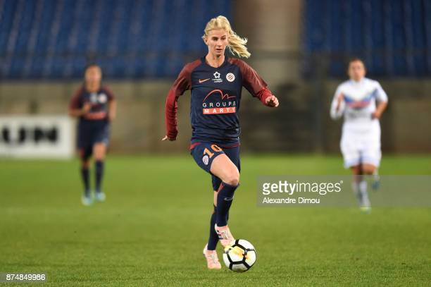 Sofia Jakobsson of Montpellier during the UEFA women's Champions League match Round of 16 second leg between Montpellier and Brescia on November 15...