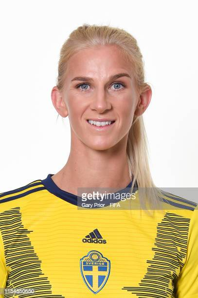 Sofia Jakobsson of Sweden poses for a portrait during the official FIFA Women's World Cup 2019 portrait session at Hotel Mercure Rennes Centre Gare...