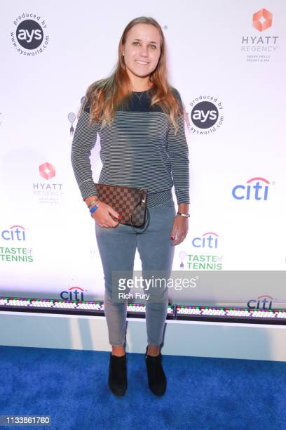 Sofia Kenin attends the Citi Taste Of Tennis Indian Wells on March 04 2019 in Indian Wells California