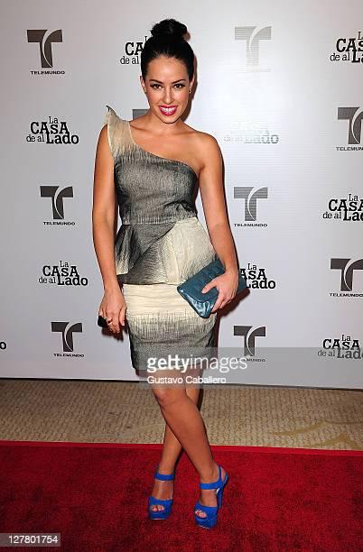 Sofia Lama attends Telemundo La Casa de al Lado VIP Premiere at Mandarin Oriental on May 31, 2011 in Miami, Florida.