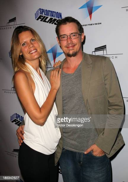 Sofia London and Jason London arrive for the Los Angeles premier or 'Toad Road' at Arena Cinema Hollywood on October 18 2013 in Hollywood California