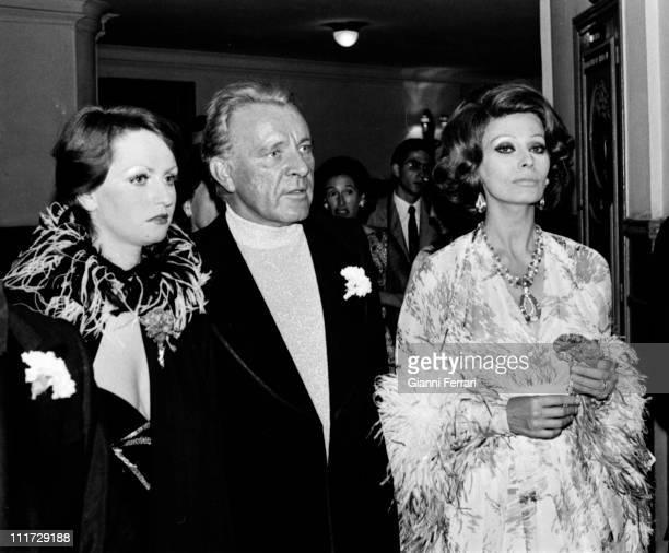 Sofia Loren and Richard Burton in the San Sebastian film festival San Sebastian, Spain,