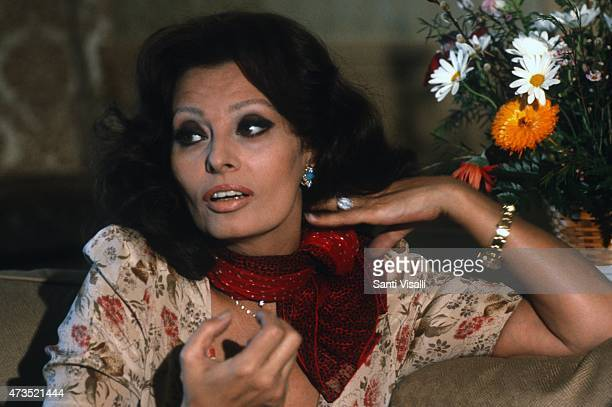 Sofia Loren wearing a Rolex watch poses for a photo on March 15 1979 in New York New York