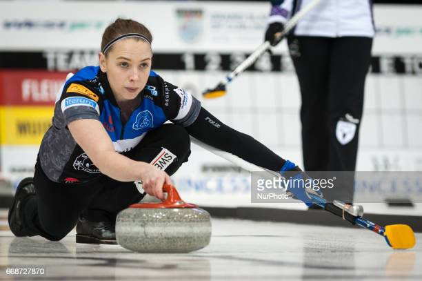 Sofia Mabergs on the ice during 2017 WetJet Players Championship which takes place in Ryerson's Mattamy Athletic Centre in Toronto Ontario Canada on...