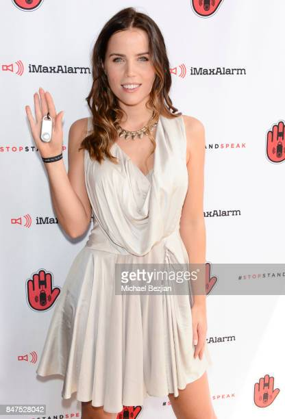 Sofia Mattsson attends iMaxAlarm pledges to #StopStandSpeak against Street Harassment at the GBK Pilot Pen Pre Awards Celebrity Lounge 2017 Day 1 on...