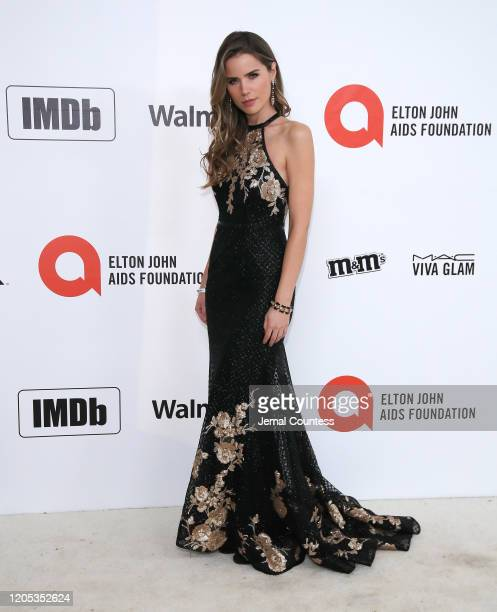 Sofia Mattsson attends the 28th Annual Elton John AIDS Foundation Academy Awards Viewing Party sponsored by IMDb, Neuro Drinks and Walmart on...