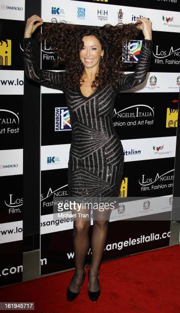 Sofia Milos arrives at The 8th Annual Los Angeles Italia Film Fashion And Art Festival held at Chinese 6 Theatres on February 17 2013 in Hollywood...