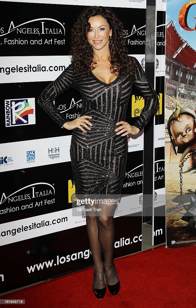 Sofia Milos arrives at The 8th Annual Los Angeles, Italia Film, Fashion And Art Festival held at Chinese 6 Theatres on February 17, 2013 in Hollywood, California.