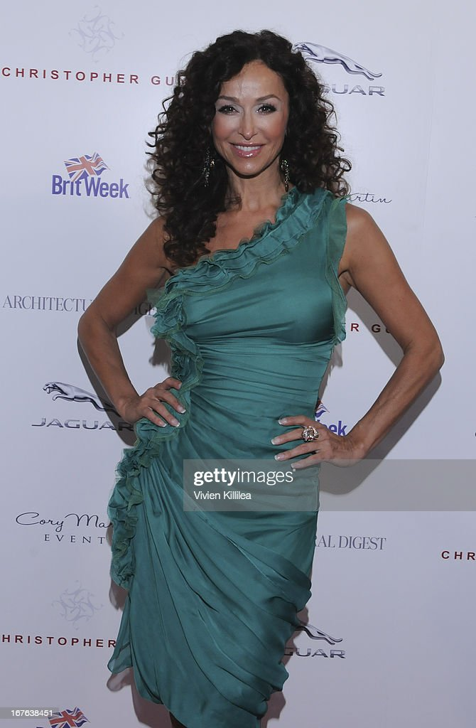 Sofia Milos attends British luxury furnishings designer Christopher Guy presents BritWeek design icon award to design director of Jaguar Ian Callum at Christopher Guy West Hollywood Showroom on April 26, 2013 in West Hollywood, California.