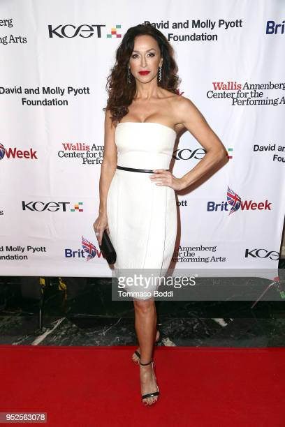 Sofia Milos attends the BritWeek And The Wallis Present A Shakespeare Jubilee at Wallis Annenberg Center for the Performing Arts on April 28 2018 in...