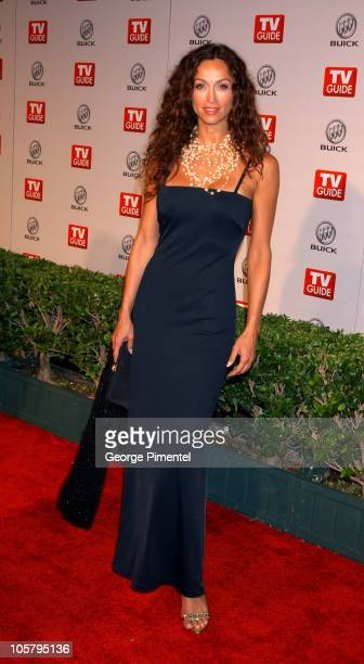 Sofia Milos during 55th Annual Primetime Emmy Awards TV Guide 2003 Emmy Party at The Lot Studios in Hollywood California United States