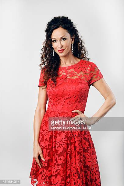 Sofia Milos poses for a portrait at the BAFTA luncheon on August 23 2014 in Los Angeles California