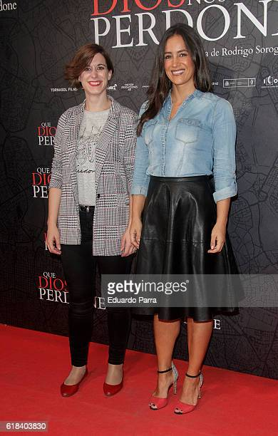 Sofia Miranda and Begona Villacis attend the 'Que Dios nos perdone' photocall at Capitol cinema on October 26 2016 in Madrid Spain