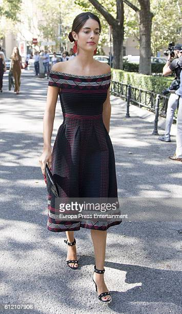 Sofia Palazuelo attends the wedding ceremony of Luis Martinez De Irujo and Adriana Marin at Liria Palace on October 1 2016 in Madrid Spain