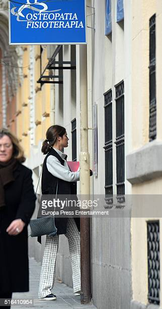 Sofia Palazuelo is seen on March 4 2016 in Madrid Spain