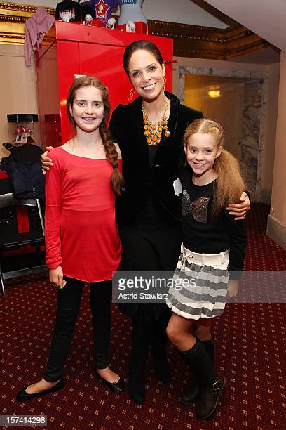 Sofia Raymond Soledad O'Brien and Cecilia Raymond attend the New York Foundling 'Annie The Musical' Matinee at Palace Theatre on December 2 2012 in...