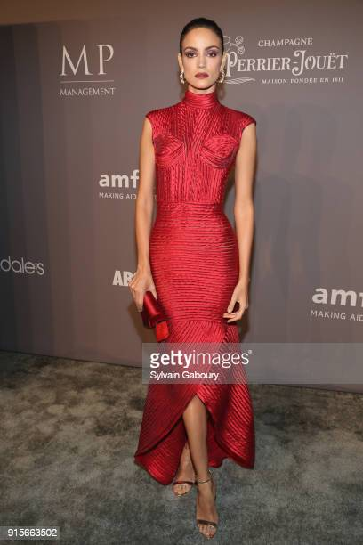 Sofia Resing attends 2018 amfAR Gala New York Arrivals at Cipriani Wall Street on February 7 2018 in New York City