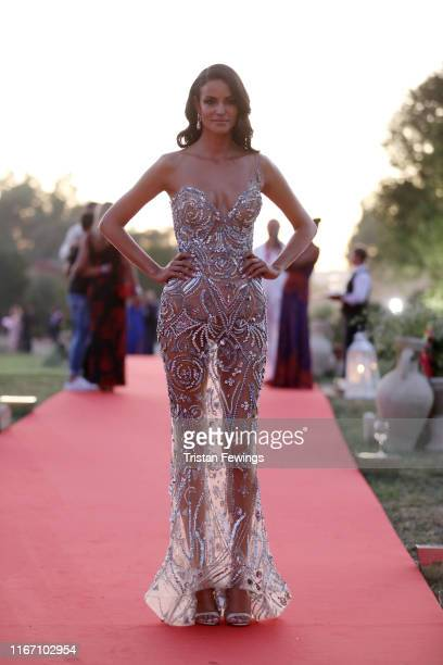 Sofia Resing attends the cocktail at the Unicef Summer Gala Presented by Luisaviaroma at on August 09, 2019 in Porto Cervo, Italy.