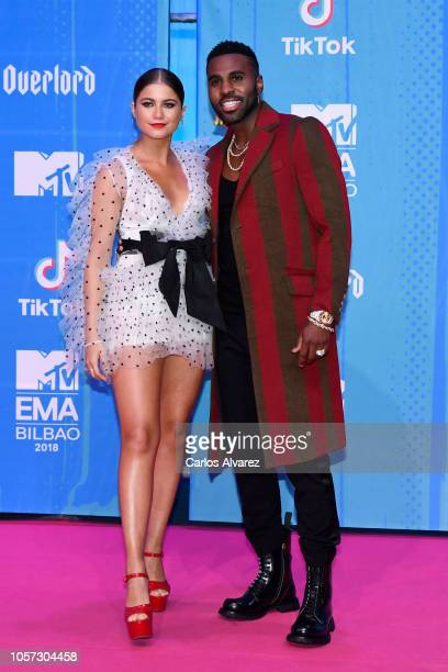 Sofia Reyes and Jason Derulo attend the MTV EMAs 2018 at Bilbao Exhibition Centre on November 4 2018 in Bilbao Spain