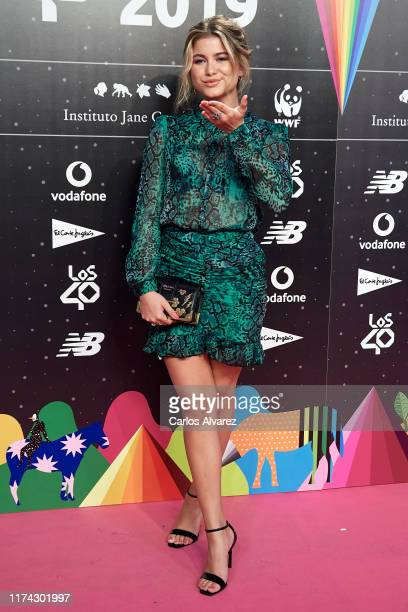 Sofia Reyes attends the 40 Principales Awards nominated dinner at Florida Retiro on September 12 2019 in Madrid Spain