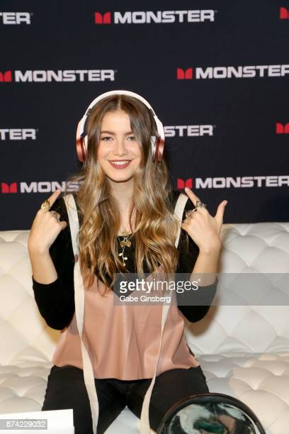 Sofia Reyes attends the gift lounge during the 18th annual Latin Grammy Awards at MGM Grand Garden Arena on November 14 2017 in Las Vegas Nevada