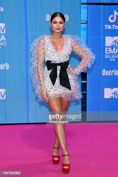 Sofia Reyes attends the MTV EMAs 2018 at Bilbao Exhibition Centre on November 4 2018 in Bilbao Spain