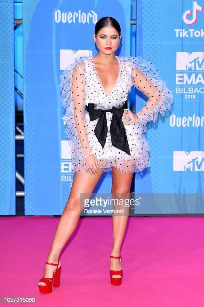 Sofia Reyes attends the MTV EMAs 2018 on November 4 2018 in Bilbao Spain