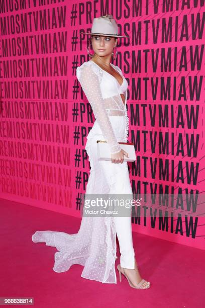 Sofia Reyes attends the MTV MIAW Awards 2018 at Arena Ciudad de Mexico on June 2 2018 in Mexico City Mexico