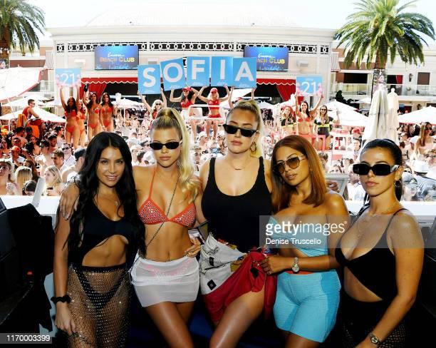 Sofia Richie Anastasia Karanikolaou Yris Palmer and Victoria Villarroel celebrate Sofia Richie's 21st birthday at Encore Beach Club At Wynn Las Vegas...