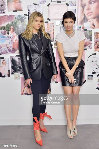 Sofia Richie and Cassandra Grey attend VIOLET GREY'S Estée Lauder Act IV capsule makeup collection launch honoring Danielle Lauder on January 10 2020...