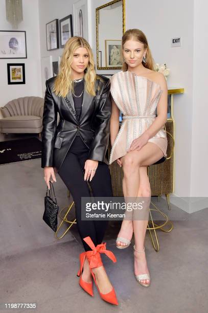 Sofia Richie and Danielle Lauder attend VIOLET GREY'S Estée Lauder Act IV capsule makeup collection launch honoring Danielle Lauder on January 10...
