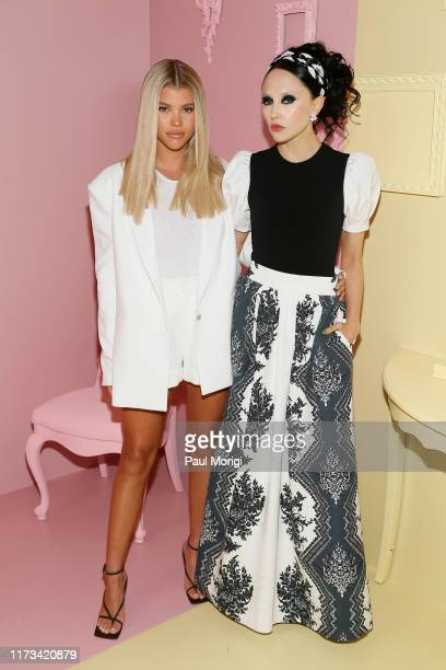 Sofia Richie and designer Stacey Bendet attend the Alice Olivia by Stacey Bendet arrivals during New York Fashion Week The Shows on September 09 2019...