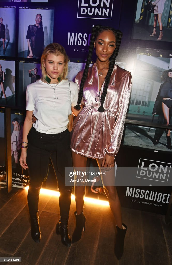 Sofia Richie (L) and Jourdan Dunn attend the Lon Dunn + Missguided launch event hosted by Jourdan Dunn at The London EDITION on February 17, 2017 in London, England.