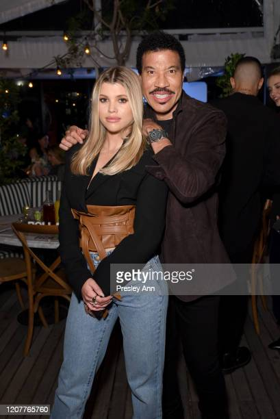 Sofia Richie and Lionel Richie attend Rolla's x Sofia Richie Launch Event at Harriet's Rooftop on February 20 2020 in West Hollywood California