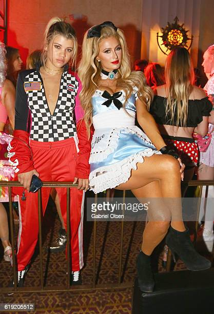 Sofia Richie and Paris Hilton attend Trick or treats The 6th Annual treats Magazine Halloween Party Sponsored by Absolut Elyx on October 29 2016 in...