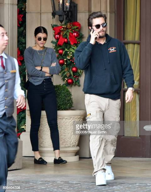 Sofia Richie and Scott Disick are seen on December 28 2017 in Los Angeles California