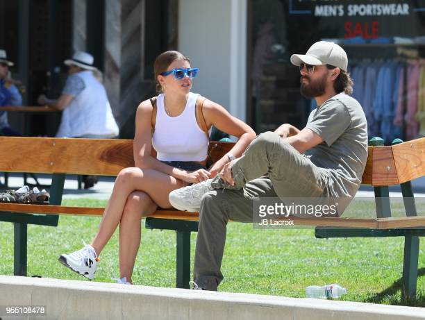 Sofia Richie and Scott Disick are seen on May 05, 2018 in Malibu, California.