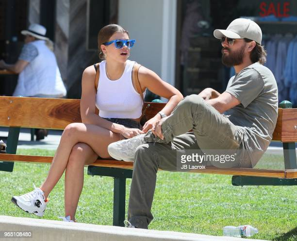 Sofia Richie and Scott Disick are seen on May 05 2018 in Malibu California