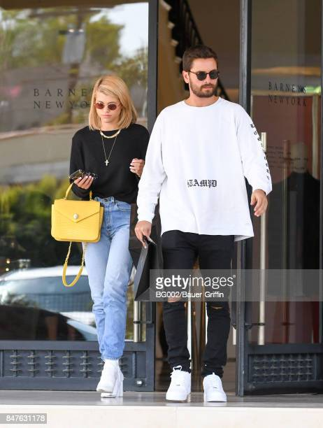 Sofia Richie and Scott Disick are seen on September 15 2017 in Los Angeles California