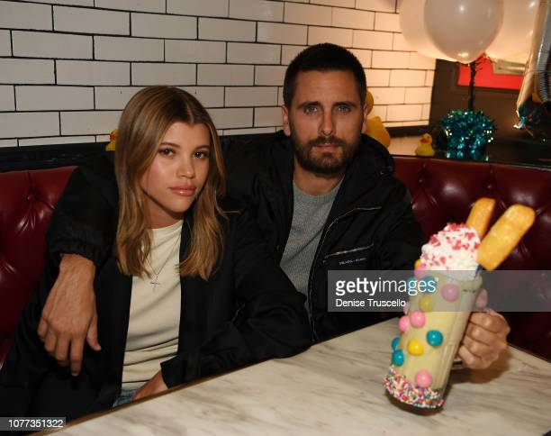 Sofia Richie and Scott Disick dine at Sugar Factory American Brasserie at Fashion Show Mall on January 4 2019 in Las Vegas Nevada