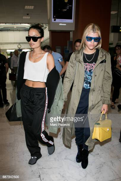 Sofia Richie arrives at Nice airport during the 70th annual Cannes Film Festival at on May 23 2017 in Cannes France