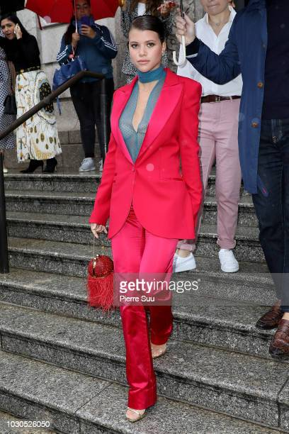 Sofia Richie arrives at the Carolina Herrera SS19 show on September 10 2018 in New York City